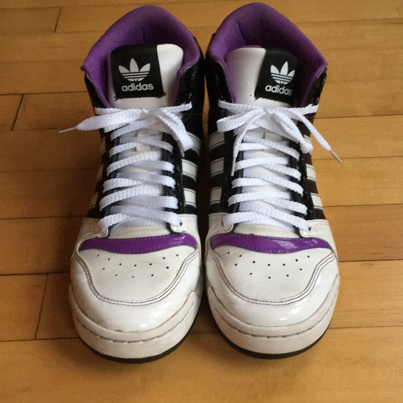buy online 308e6 d734a adidas Shoes - Adidas Neo Raleigh purple hi tops